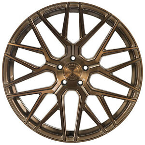 """20"""" Rohana RFX10 Brushed Bronze Concave Wheels for Nissan"""
