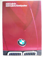 Prospectus BMW 3er e 30 CABRIOLET 325i, 325i catalyseur, 2.1986, 26 pages