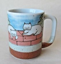 Cute Cats Mug Vintage MCM 1970s Otagiri Japan Coffee Tea Cup White Kittens