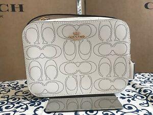 COACH Mini Camera Bag In Signature Leather 2403 im/Chalk