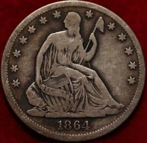 1864-S San Francisco Mint Silver Seated Half Dollar