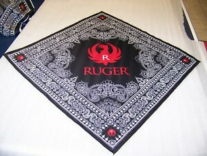 """Genuine RUGER Bandana Large 27"""" x 27"""" w/Ruger Logo  BRAND NEW  ++Free Shipping++"""
