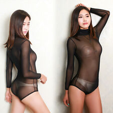 Free Size Ladies Nylon Spandex Mesh Body Stocking Nets lingerie Sex Jumpsuit