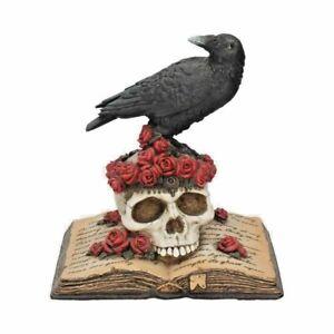 Nemesis Now Heartaches Reflection 17cm Skull Raven Gothic Statue Ornament Gift