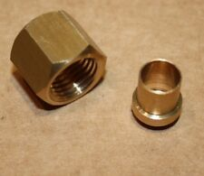 """Qty 10 x Solder Olive/Nipple and Gland Nut for Copper Pipe 1/4""""BSP x 5/16"""" Tube"""