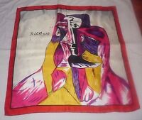 Picasso Very Elegant Colorful Design Luxurious Silky Polyester Scarf!