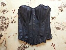 New Corsets Boulevard Black Leather Look Boned Laced 12/14 Corset Steampunk