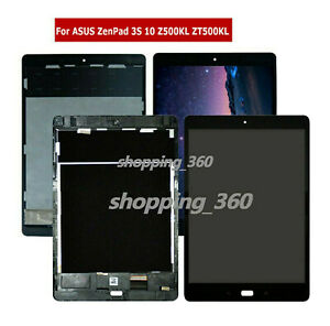Black - NO Frame ZenPad Z10 ZT500KL 9.7 inch LCD Display Touch Screen Digitizer Replacement for Asus ZenPad 3S 10 LTE Z500KL P001 CENTAURUS Assembly Fit Asus Z500KL
