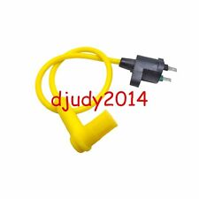 Latest Yellow Ignition Coil Spark Plug Wire For Yamaha Motorcycle Dirt Bike 90CC