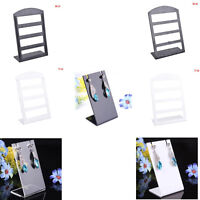 Earring Necklace Jewelry Showcase Plastic Display Rack Stand Holder Organizer EO
