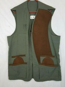 ADS Shooting Vest Soft Leather Vtg Custom USA Made Alberto Desimone