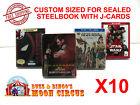 Внешний вид - 10x BLU-RAY STEELBOOK PROTECTIVE SLEEVE- BOX PROTECTORS- WITH J-CARD CUSTOM SIZE