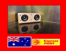 NEW Quality Wireless Bluetooth Bookshelf Speaker Wooden Walnut Wood Blue