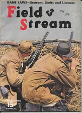 Field & Stream magazine September 1940 Kodachrome cover vintage hunting fishing