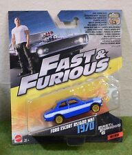 MATTEL 1:55th SCALE DIE-CAST FAST & FURIOUS 6/32 FORD ESCORT RS1600 MK1 1970