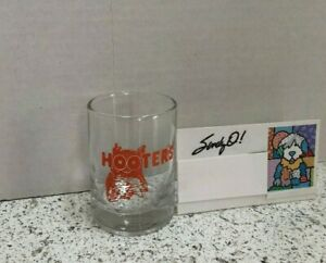 """HOOTERS Bar Vintage Shot Glass 2.5"""" Tall NEW"""