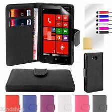 HOUSSE ETUI EN CUIR D'UNITÉ CENTRALE DE PORTEFEUILLE pour Nokia Lumia 820
