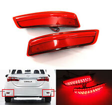 2x For 2012+up Lexus ES GS Red Lens LED Bumper Reflector Tail Brake Stop Light