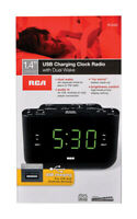RCA  Black  USB Clock Radio  Digital  Plug-In