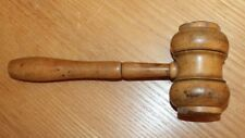 ancien marteau ou maillé en buis manche creux avec filetage