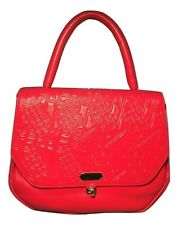 Lanvin Paris Vintage Red Leather Handbag