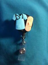 Medical SCRUB Stethoscope Band Aid MEDICAL RN Nurse Retractable ID Badge Holder