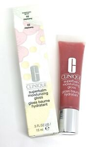 Clinique Superbalm Moisturizing Gloss 02 Raspberry Full Size NIB .5oz / 15ml