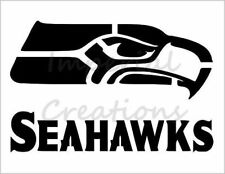 """SEATTLE SEAHAWKS"" Football Team 8.5"" x 11"" Stencil Plastic Sheet NEW S103"