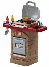 Outdoor Grill Playset Burner Sink Hot Dog Grill Knob Real click Kids Gift New