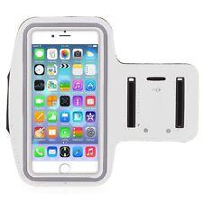 "iPhone 6 Plus 5.5"" White Premium Running, Jogging, Cycling Armband Phone Strap"