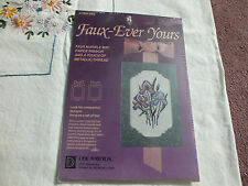 FAUX EVER YOURS Counted Cross Stitch Kit Marble Mat Ribbon Unopened IRIS