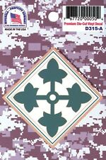 Us Army 4Th Infantry Division Premium Die-Cut Vinyl Sticker - Made In The Usa!