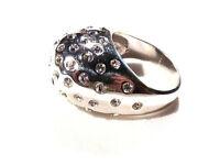 Bijou argent 925 bague jonc boule strass  taille 55 ring