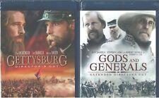 Killer Angels, 1 y 2: Gettysburg + Dioses Generals- Civil Guerra Nuevo 2 Blu-Ray