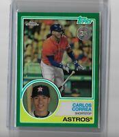 Carlos Correa Houston Astros 2018 Panini Silver Pack Green refractor 19/99