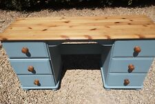 HAND PAINTED SOLID PINE DRESSING TABLE IN BLUE. FIRED EARTH