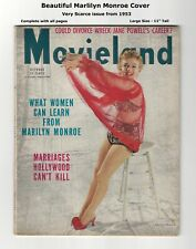 1953 MOVIELAND - SEXY MARILYN MONROE COVER & PICS! - VERY SCARCE - COMPLETE