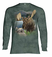 Monarch of the Forest The Mountain Cotton Adult Long Sleeve T-Shirt M-XL-2XL NWT