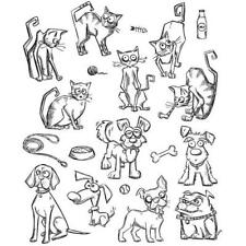 Tim Holtz Rubber Stamp Set - Mini Cats & Dogs CMS-LG 272