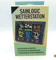 Weather Station, Wireless with 3 Sensors, Sainlogic Model FT-0852, Black