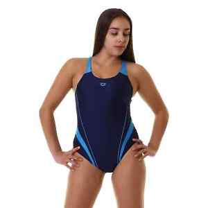 Arena Symmetrical Splice New swim Pro Back one piece Navy/Turquoise UK 32 BNWT