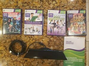 XBOX 360 Kinect Sensor & 4 Games