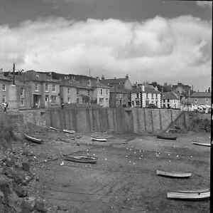 B/W 6x6 Negative x3 Mousehole Cornwall Village Scene 1949 +Copyright  Z617