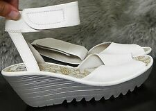 Fly London Yula' Wedge Sandal Shoes Size 10 -10.5 $ 175