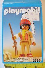 Playmobil 3395 Western American Indian Chief Headdress Rifle WEST GERMANY