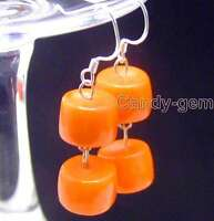 SALE 10-11mm Pink natural knobble coral dangle Earring with Silver 925 hook-e354
