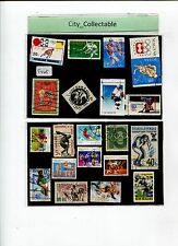 20 PCS SPORTS USED STAMPS * ICE HOCKEY ETC # S405