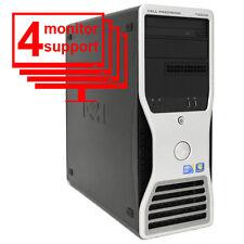 Dell Precision T5500 4 Monitor Forex Trading PC Quad Core 2.13GHz 8GB 256GB SSD