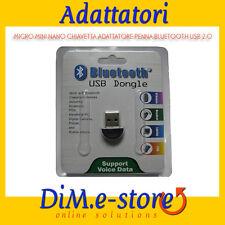 MICRO MINI NANO CHIAVETTA ADATTATORE PENNA BLUETOOTH USB 2.0