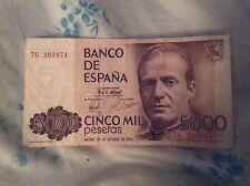 banconota 5000 pesetas cinco  mil pesetas 1979 banco de espana
